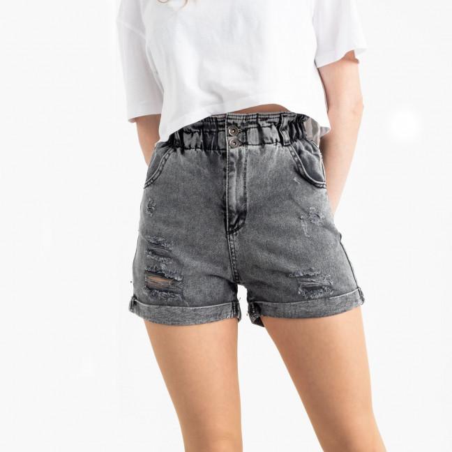 0451 Miss Aura шорты джинсовые серые котоновые  (8 ед. размеры: 34.36/2.38/2.40.42.44) Miss Aura: артикул 1121994