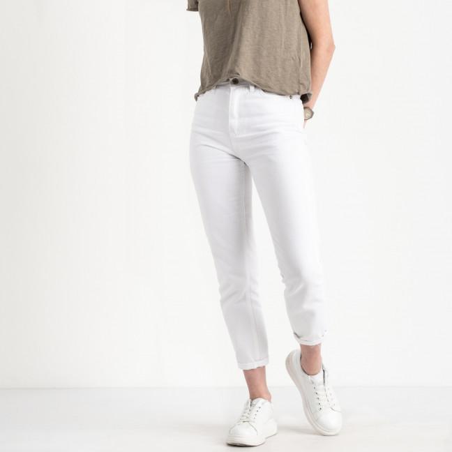 1001 Miss Aura мом женский белый котоновый (8 ед. размеры: 34.36/2.38/2.40.42.44) Джинсы: артикул 1121679
