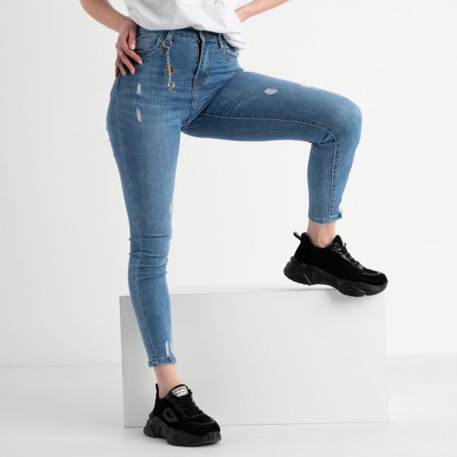 0623 New Jeans американка голубая стрейчевая  (6 ед. размеры: 25.26.27.28.29.30) New Jeans: артикул 1117678