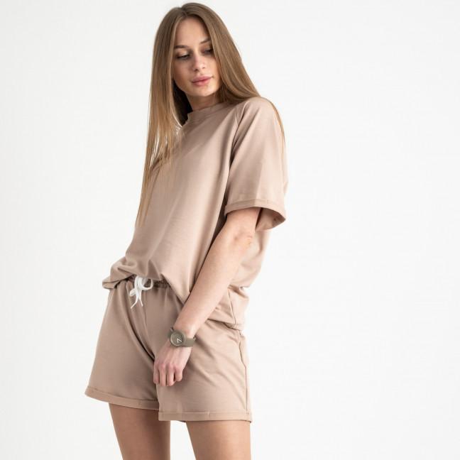 1445-7 Mishely бежевый женский спортивный костюм с шортами (4 ед. размеры: S.M.L.XL) Mishely: артикул 1121756
