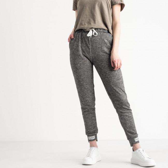 1420-7 черные спортивные штаны женские из двунитки (4 ед. размеры: S.M.L.XL) Спортивные штаны: артикул 1119078
