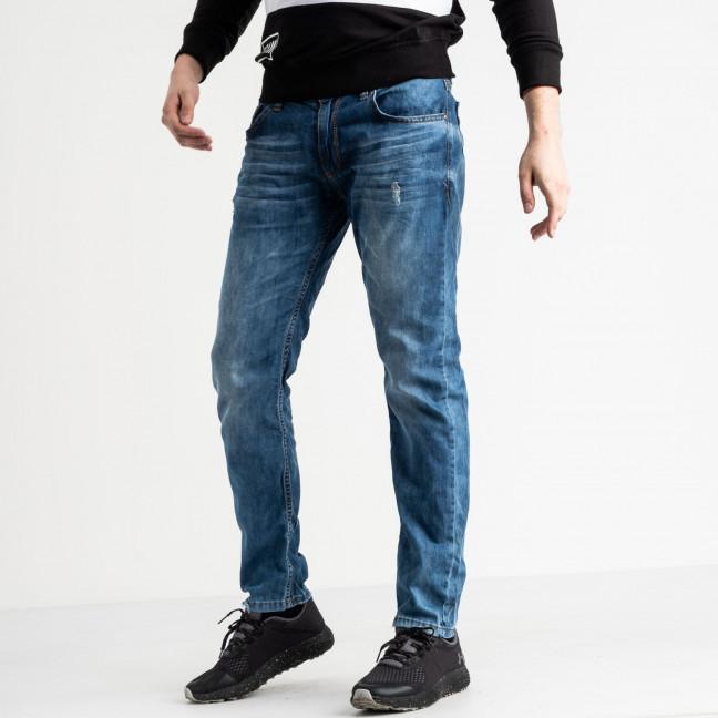 0587 Da Mario джинсы мужские синие стрейчевые (7 ед. размеры: 29.31.32.32.33.34.36) Da Mario: артикул 1117869
