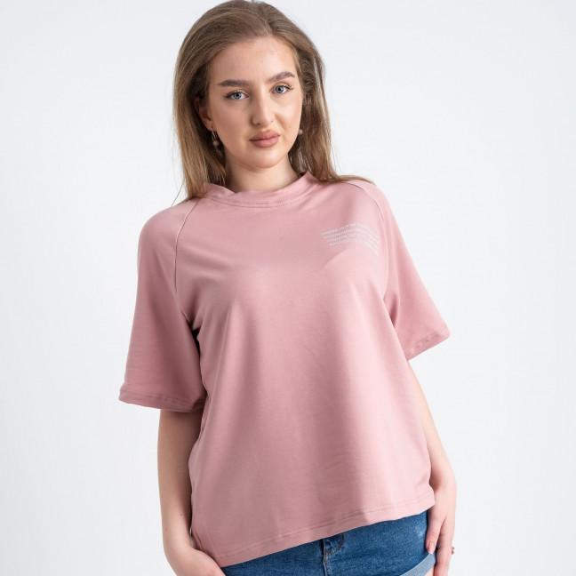 2220-7 Mishely футболка пудровая женская батальная из двунитки ( 4 ед. размеры: 50.52.54.56) Mishely: артикул 1122671
