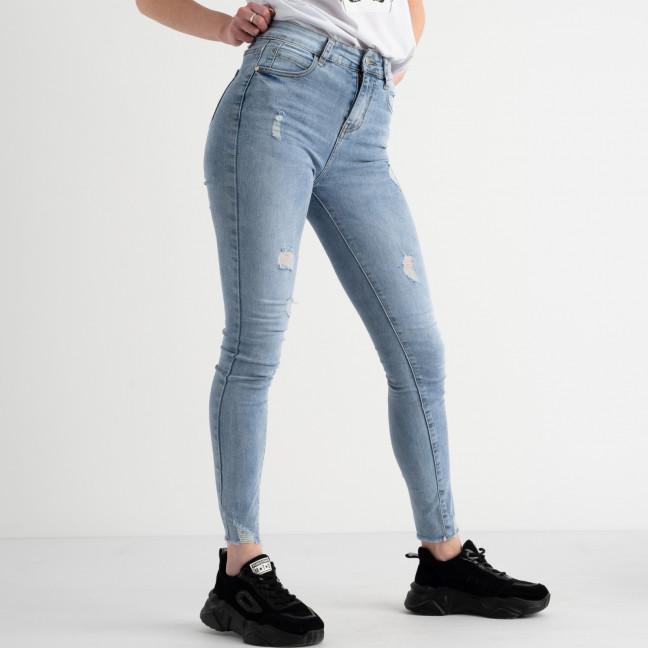 0629 New Jeans американка голубая стрейчевая  (6 ед. размеры: 25.26.27.28.29.30) New Jeans: артикул 1117674