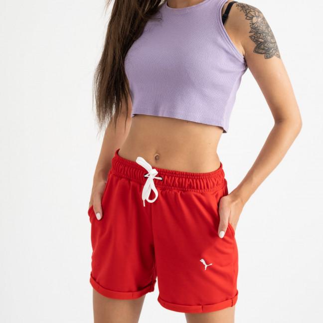1422-13 Mishely шорты женские красные из двунитки (4 ед. размеры: S.M.L.XL) Mishely: артикул 1123379