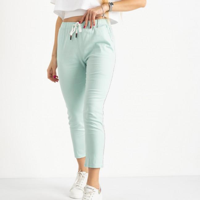 0218-5 Yimeite бирюзовые брюки полубатальные женские стрейчевые (6 ед. размеры: 28.29.30.31.32.33) Yimeite: артикул 1120810