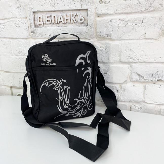 2098 черная сумка мужская наплечная (5 ед.) Сумка: артикул 1121378