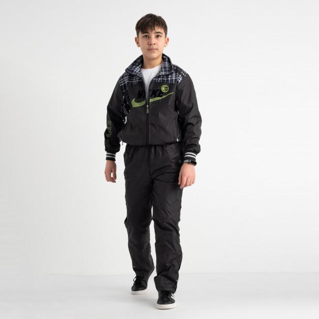1003-1 спортивный костюм из плащевки подростковый на мальчика 8-13 лет (5 ед. размеры на бирке: M.L.XL.2XL.3XL) Спортивный костюм: артикул 1117750