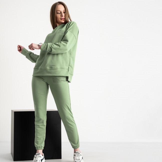 15115-14 фисташковый женский спортивный костюм из двунитки (4 ед. размеры: S.M.L.XL) Спортивный костюм: артикул 1119932
