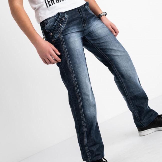 3203-2 Vigoocc подростковые джинсы на мальчика синие коттоновые (7 ед. размеры: 24.25.26.27.28.29.30) Vigoocc: артикул 1114360