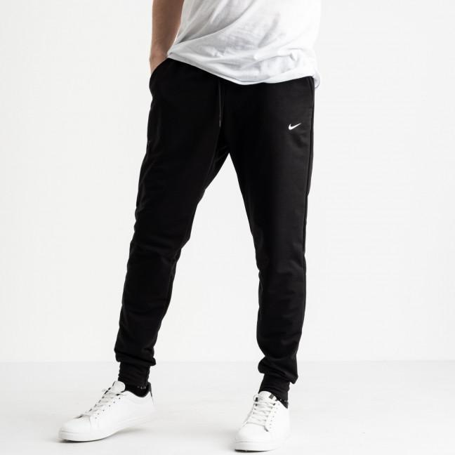 1621-11 черные мужские спортивные штаны из двунитки (4 ед. размеры: M.L.XL.2XL) Спортивные штаны: артикул 1118899