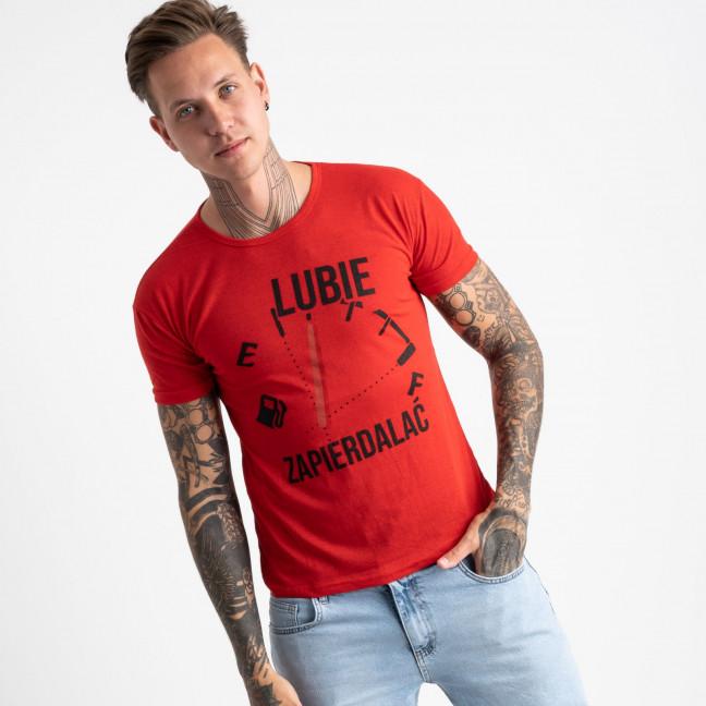 2618-3 красная футболка мужская с принтом (4 ед. размеры: M.L.XL.2XL) Футболка: артикул 1121037