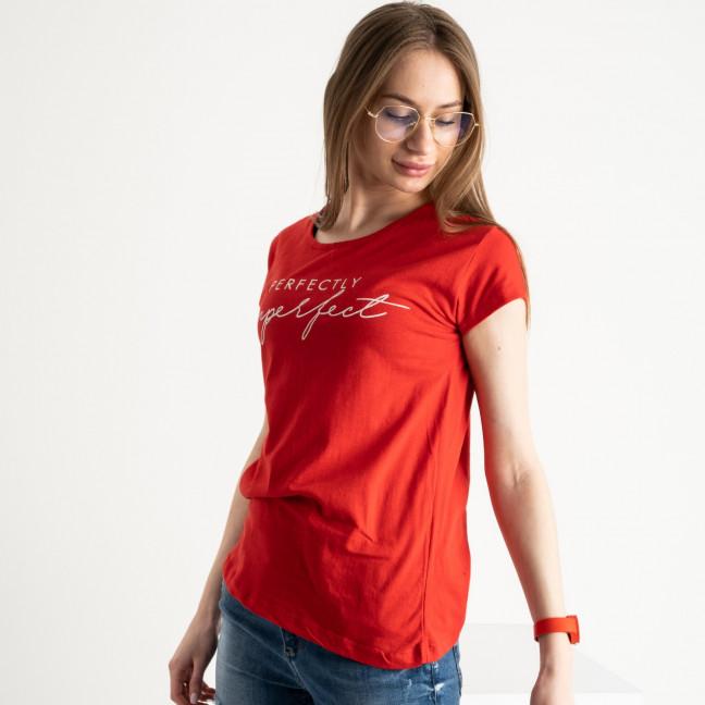 2581-3 красная футболка женская с принтом (3 ед. размеры: S.M.L) Футболка: артикул 1119203