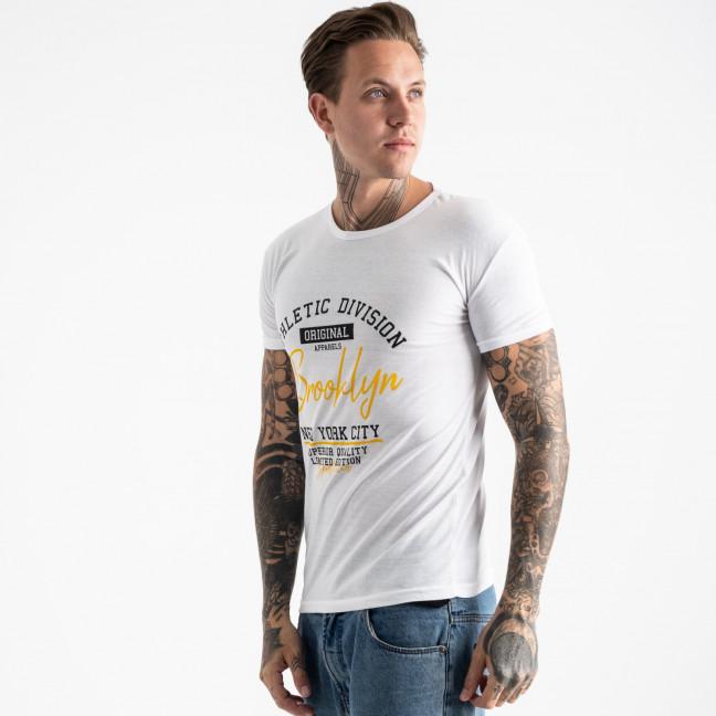 2602-10 белая футболка мужская с принтом (4 ед. размеры: M.L.XL.2XL) Футболка: артикул 1120894