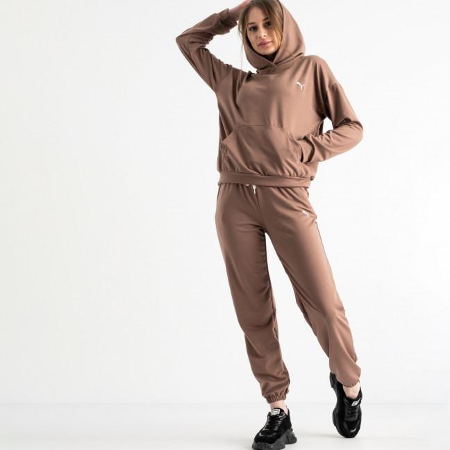15222-3 мокко женский спортивный костюм из двунитки (4 ед. размеры: S.M.L.XL) Mishely: артикул 1117828