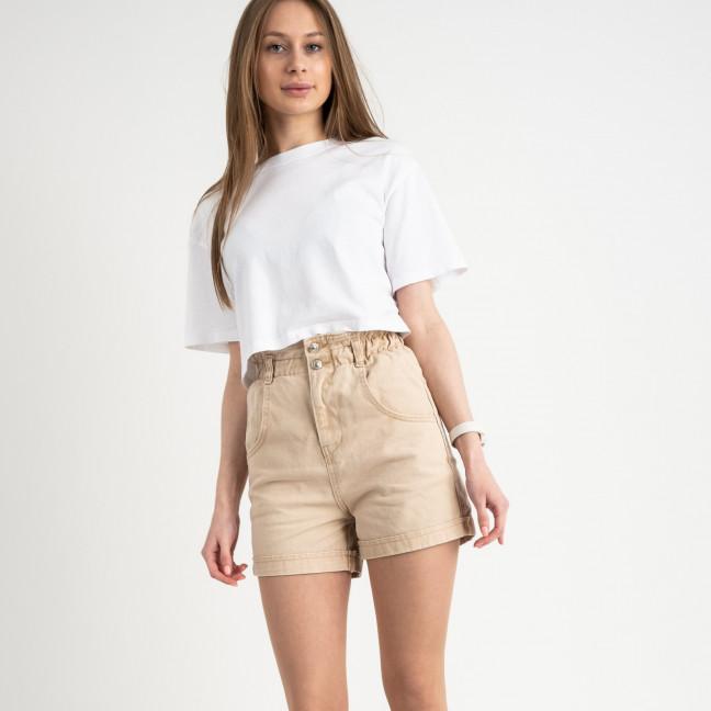 3403 шорты джинсовые бежевые котоновые ( 8 ед. размеры: 25/2.26/3.28/2.30) Шорты: артикул 1122198