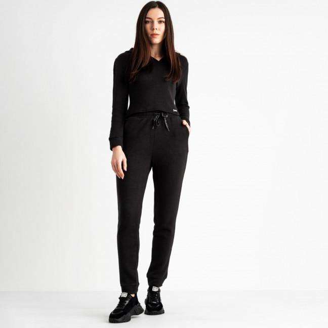 0545-1 черный спортивный костюм полубатальный женский трикотажный (4 ед. размеры: 48.50.52.54) Спортивный костюм: артикул 1118843