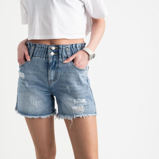 0730 New Jeans шорты джинсовые голубые котоновые (6 ед. размеры: 25.26.27.28.29.30) New Jeans: артикул 1121481