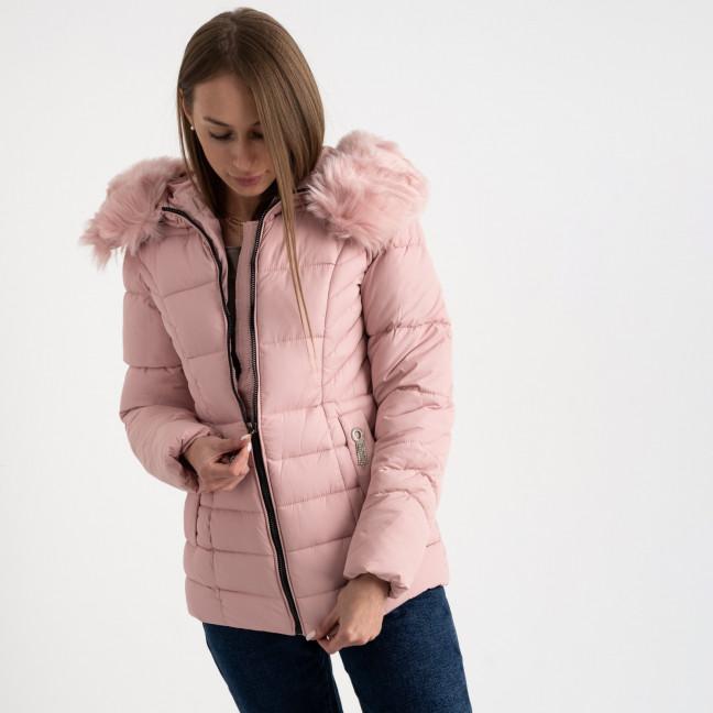 0906-2 розовая куртка женская на синтепоне (4 ед. размеры: L.XL.2XL.3XL) Куртка: артикул 1123508