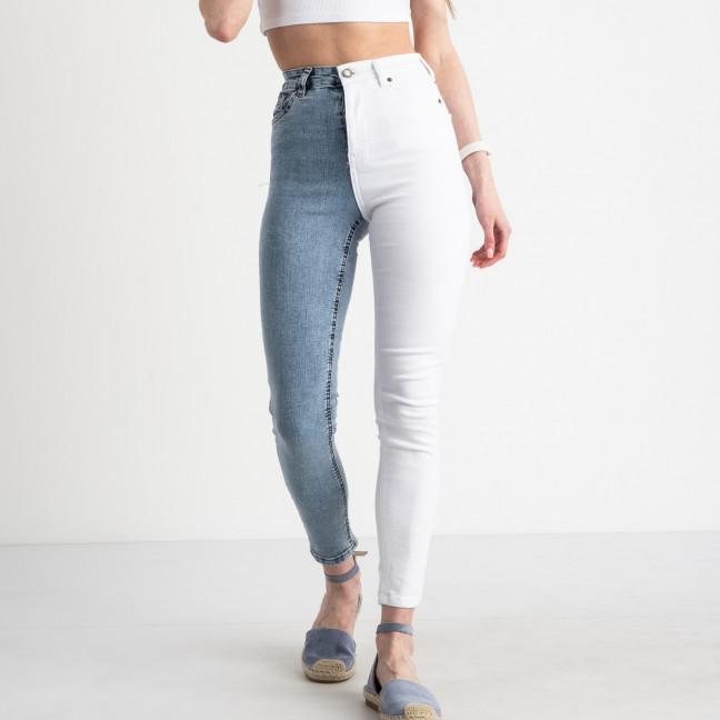 2170 YMR джинсы двухцветные женские стрейчевые (8 ед. размеры:34.36/2.38/2.40/2.42) Джинсы: артикул 1122311
