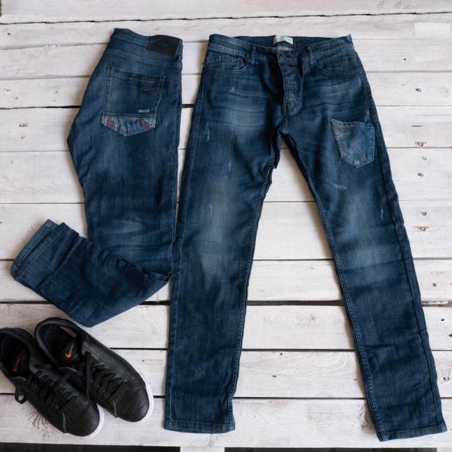 0108 джинсы мужские синие стрейчевые (8 ед. размеры: 29.30.31.32.32.33.34.36) Джинсы: артикул 1116945