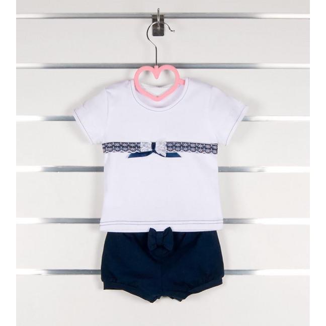 """0401 комплект """"морячка"""" детский на девочку 3-9 месяцев (3 ед.размеры: 62.68.74) Маленьке сонечко: артикул 1121534"""
