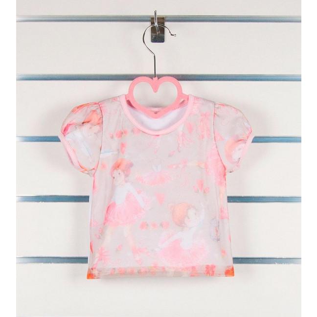 0685 футболка  розовая на девочку 3-12 месяцев (3 ед размеры: 68.74.80) Маленьке сонечко: артикул 1121520