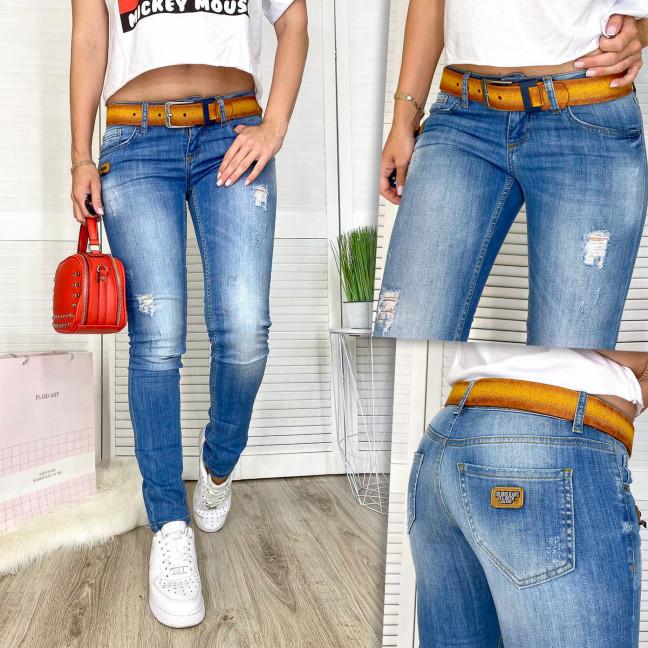 9365-581-01 Collibri джинсы женские с царапками синие весенние стрейчевые (25-30, 7 ед.) Collibri: артикул 1110630