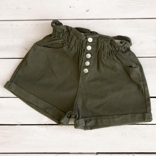 0226-5 хаки Defile шорты джинсовые женские на резинке коттоновые (34-40,евро, 6 ед.) Defile: артикул 1110666