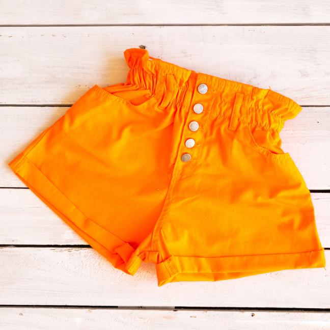 0226-7 оранж Defile шорты джинсовые женские на резинке коттоновые (34-40,евро, 6 ед.) Defile: артикул 1109476