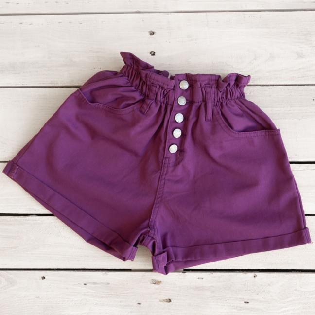 0226-3 фиолетовые Defile шорты джинсовые женские на резинке коттоновые (34-40,евро, 6 ед.) Defile: артикул 1110664
