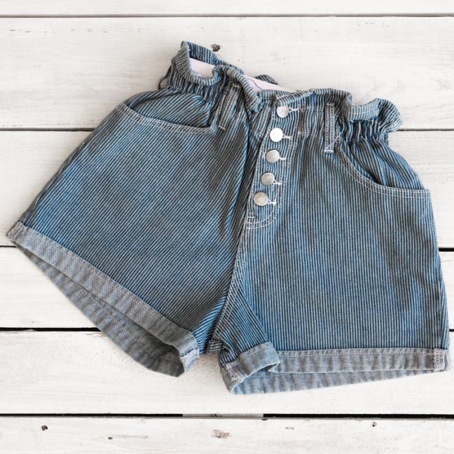0226-1 полоска Defile шорты джинсовые женские на резинке коттоновые (34-40,евро, 6 ед.) Defile: артикул 1110667