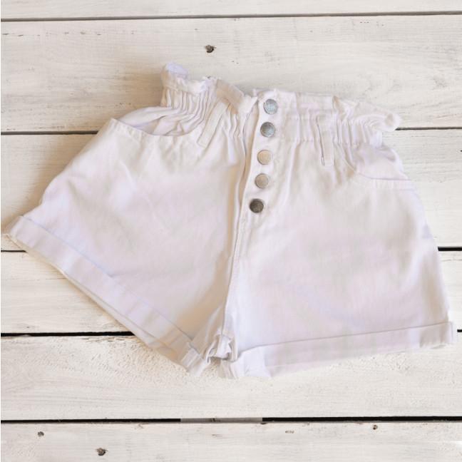 0226-4 белые Defile шорты джинсовые женские на резинке коттоновые (34-40,евро, 6 ед.) Defile: артикул 1109475