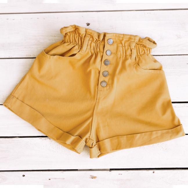 0226-10 горчица Defile шорты джинсовые женские коттоновые (34-40,евро, 6 ед.) Defile: артикул 1110431