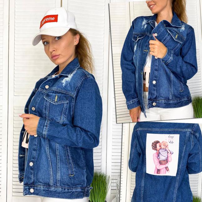 2950-1 Xray куртка джинсовая женская с нашитым принтом осенняя котоновая (34-40, евро, 4 ед.) XRAY: артикул 1111078
