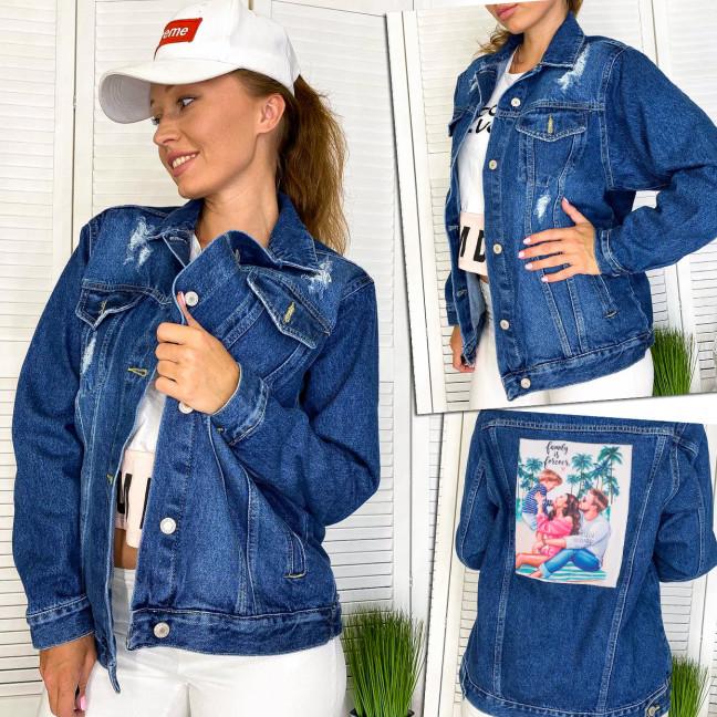 2950-2 Xray куртка джинсовая женская с нашитым принтом осенняя котоновая (34-40, евро, 4 ед.) XRAY: артикул 1111080