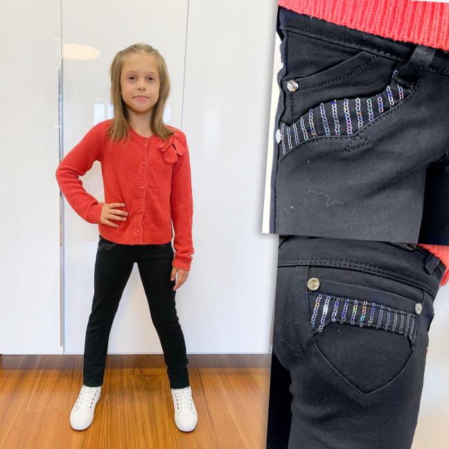 2030 Lafeidina джинсы на девочку черные с декоративной отделкой осенние стрейчевые (21-27, 7 ед.) Lafeidina: артикул 1109388
