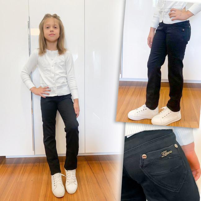 2029 Lafeidina джинсы на девочку черные осенние стрейчевые (21-27, 7 ед.) Lafeidina: артикул 1109390