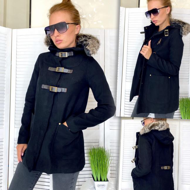14994 куртка женская удлиненная черная на подкладе осенняя (S,M,L, 3 ед.) Куртка: артикул 1111580