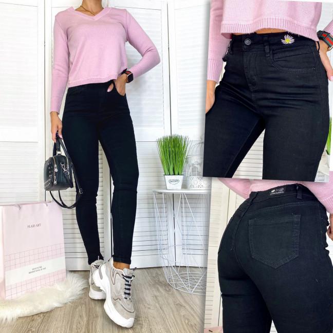 0536 New jeans американка черная демисезонная стрейчевая (25-30, 6 ед.) New Jeans: артикул 1111682