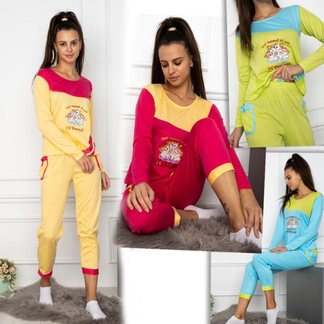 7886 D&L пижама хлопковая женская микс цветов (4 ед. размеры: S.M.L.XL) D&L: артикул 1124385