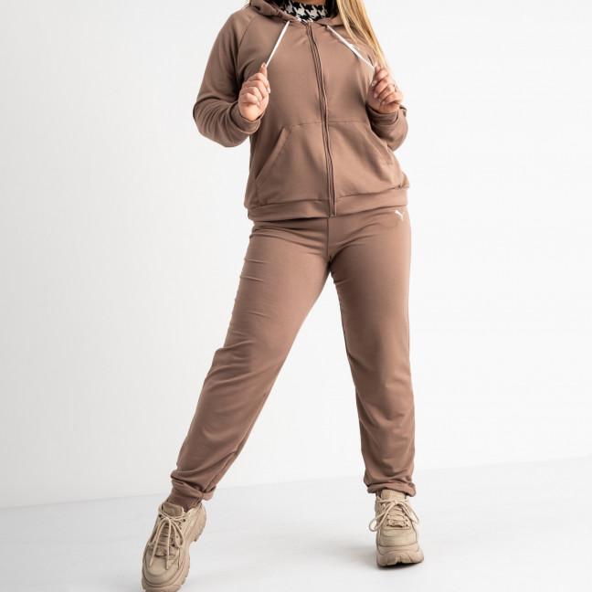 15111-3 Mishely мокко женский спортивный костюм батальный из двунитки (4 ед. размеры: 50.52.54.56)  Mishely: артикул 1117428