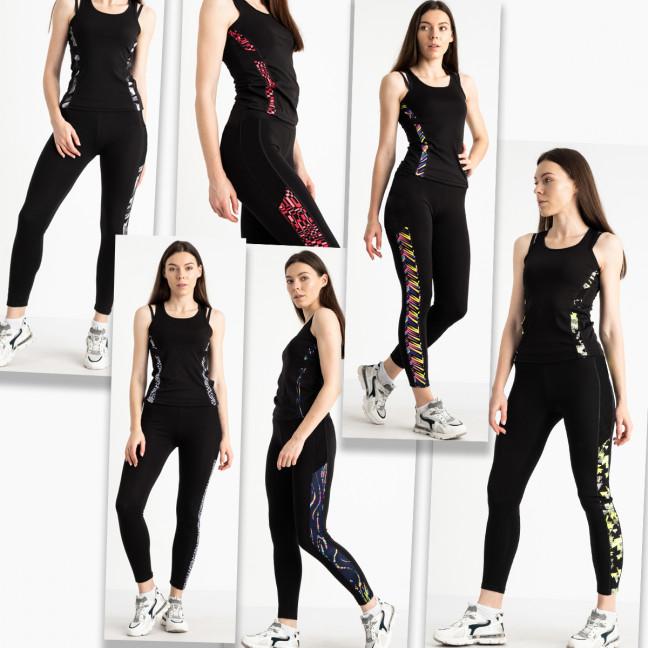 0468-175 фитнес-костюм женский стрейчевый микс цветов (4 ед. размеры: S-M/2, L-XL/2) Без выбора цветов Фитнес-костюм: артикул 1122963