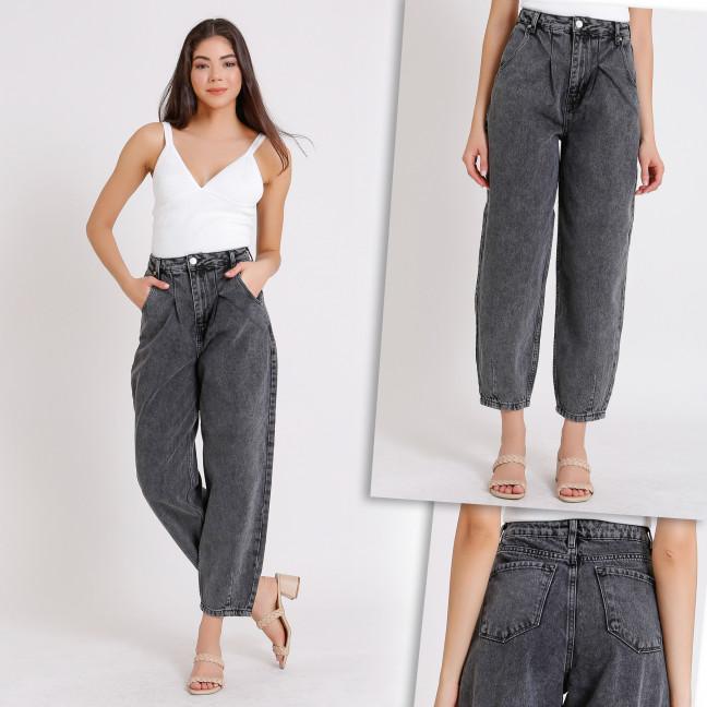 3941 джинсы-баллоны серые осенние котоновые (25-32, 8 ед.) Джинсы: артикул 1114731