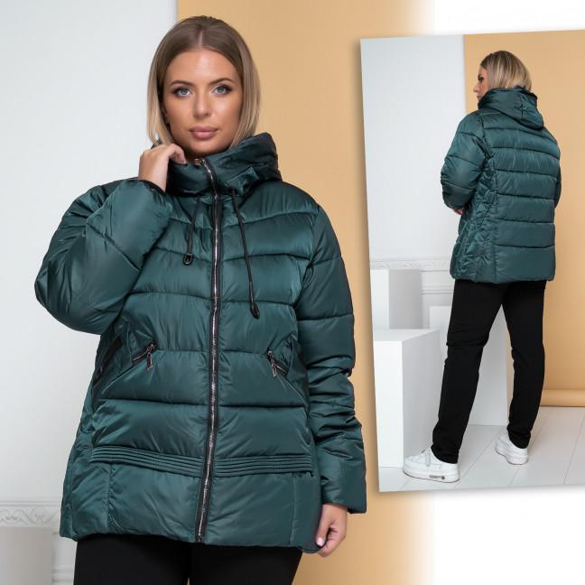 Куртка женская темно-зеленая батал X.F.Yun 9401-2 X.F.Yun: артикул 1112440