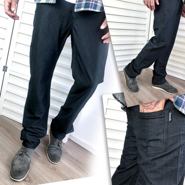 5887 Vigoocc брюки мужские молодежные черные осенние котоновые (28-34, 7 ед.) Vigoocc: артикул 1112790