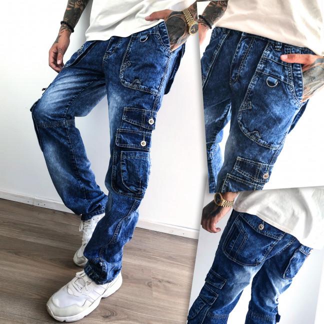 5748 Vigoocc джинсы мужские синие с боковыми карманами и декоративной отделкой осенние котоновые (29-36, 7 ед.) Vigoocc: артикул 1112780