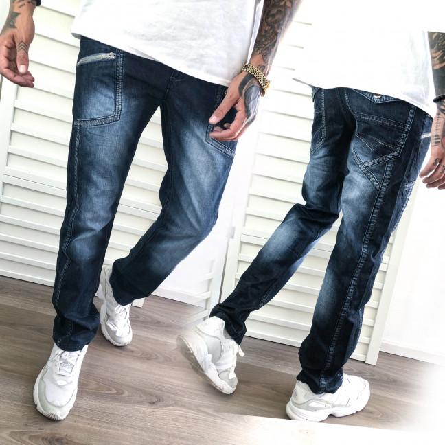 5809-3 Vigoocc джинсы мужские молодежные синие осенние котоновые (28-34, 7 ед.) Vigoocc: артикул 1112783