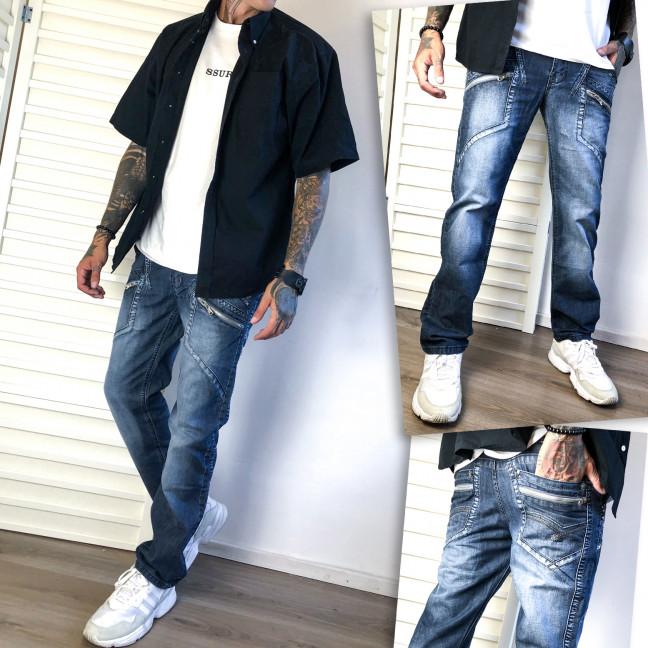 5806 Vigoocc джинсы мужские синие осенние котоновые (28-34, 7 ед.) Vigoocc: артикул 1112782