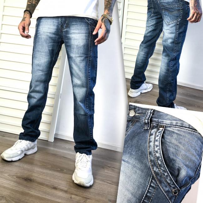 5833 Vigoocc джинсы мужские синие с декоративной отделкой осенние котоновые (28-34, 7 ед.) Vigoocc: артикул 1112787